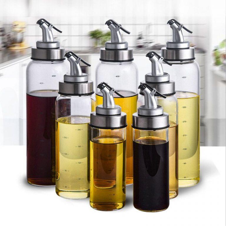 Cooking Seasoning Bottle Dispenser Sauce Bottle Glass Storage Bottles For Oil Spice Vinegar Kitchen Tools 1 / Shop Social Online Store