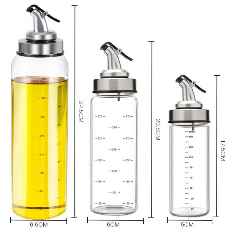 Cooking Seasoning Bottle Dispenser Sauce Bottle Glass Storage Bottles For Oil Spice Vinegar Kitchen Tools 2 / Shop Social Online Store