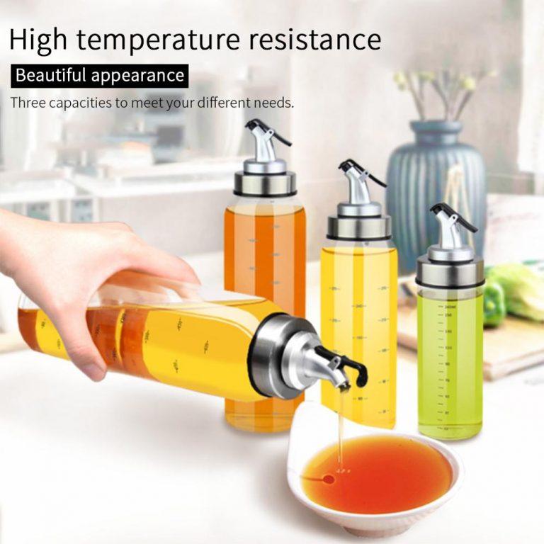 Cooking Seasoning Bottle Dispenser Sauce Bottle Glass Storage Bottles For Oil Spice Vinegar Kitchen Tools / Shop Social Online Store