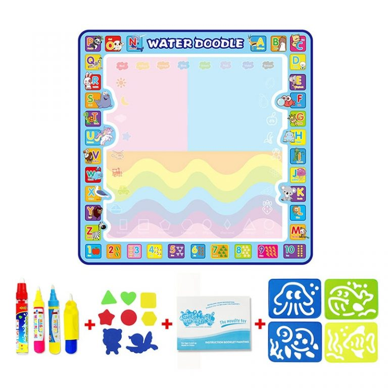 Coolplay 100x100cm Magic Water Drawing Mat Doodle Mat 4 Drawing Pens 1 Stamps Set Painting Board 2 / Shop Social Online Store