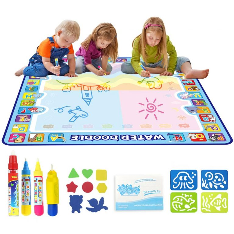 Coolplay 100x100cm Magic Water Drawing Mat Doodle Mat 4 Drawing Pens 1 Stamps Set Painting Board / Shop Social Online Store