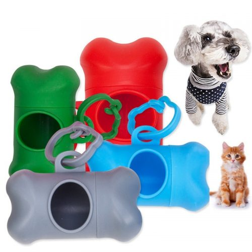 Pet Waste Bag Holder with Biodegradable Bags