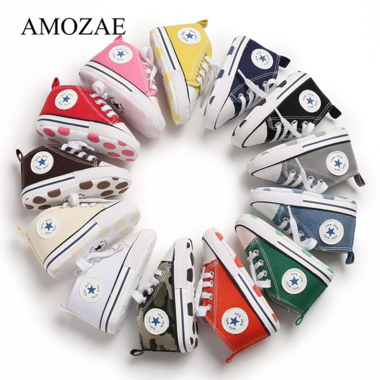 New Canvas Baby Sports Sneakers Shoes Newborn Baby Boys Girls First Walkers Shoes Infant Toddler Soft / Shop Social Online Store