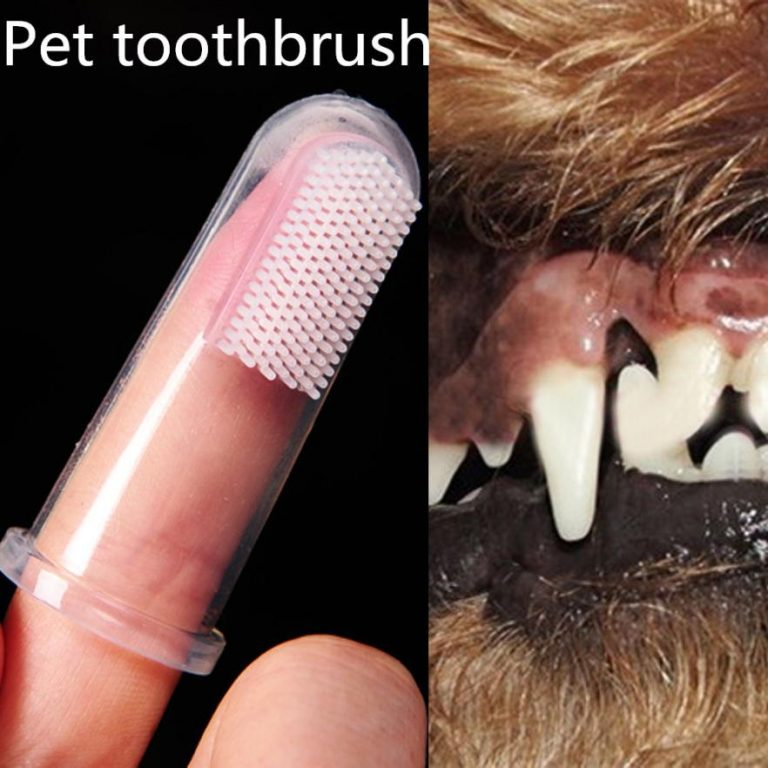 Pet Finger Toothbrush Teddy Dog Cat Super Soft Brush Bad Breath Tartar Teeth Tool Kitten Puppy 1 / Shop Social Online Store