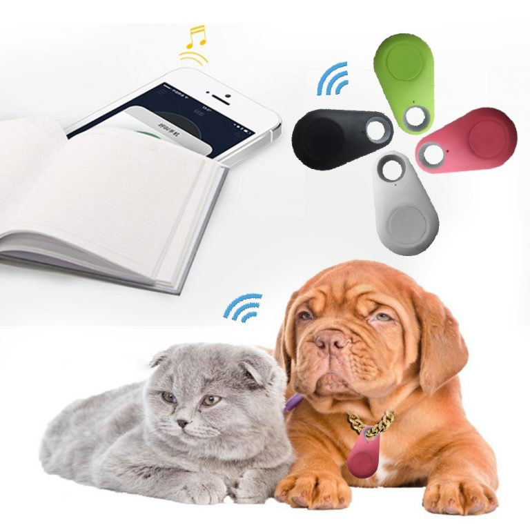 Pets Smart Mini GPS Tracker Anti Lost Waterproof Bluetooth Tracer For Pet Dog Cat Keys Wallet 1 / Shop Social Online Store