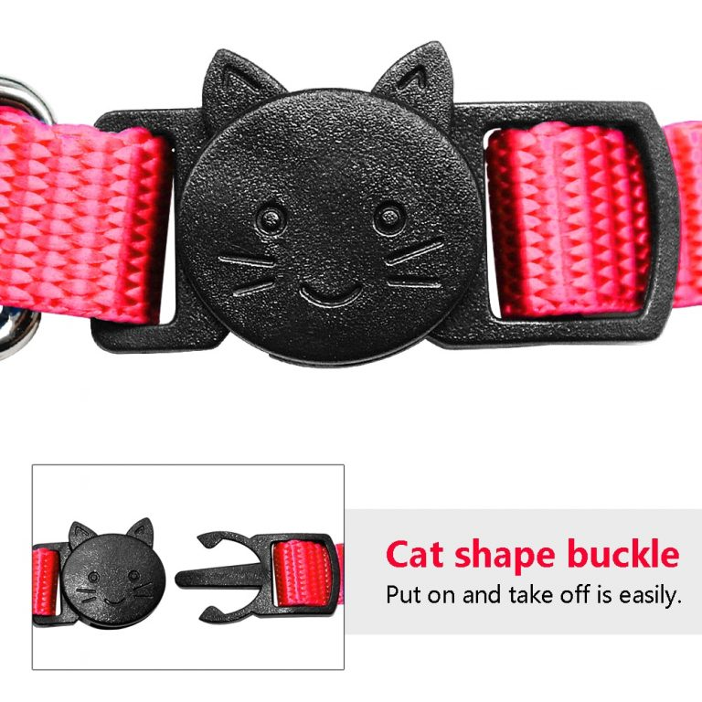Safety Breakaway Cat Collars Quick Release Kitten Collar Personalized Custom Cats Collar Necklace with Bell for 2 / Shop Social Online Store