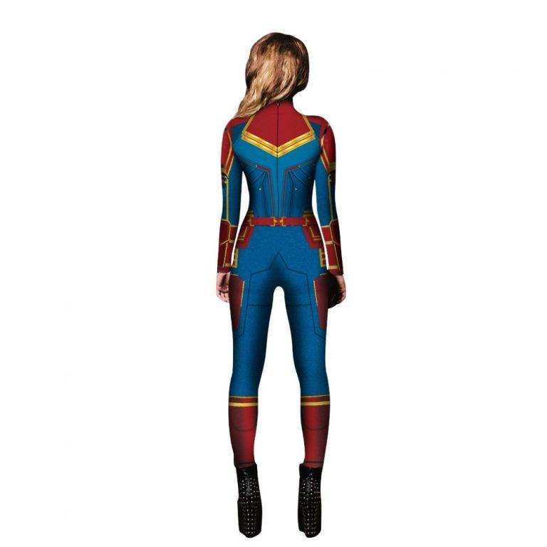 2019 New Captain Women Carol Danvers Cosplay Costumes Jumpsuit Catsuit Halloween Fancy Ball Dress 2 / Shop Social Online Store