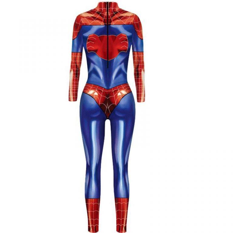 2019 New Captain Women Carol Danvers Cosplay Costumes Jumpsuit Catsuit Halloween Fancy Ball Dress 4 / Shop Social Online Store