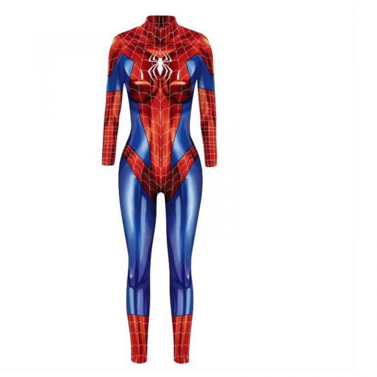 2019 New Captain Women Carol Danvers Cosplay Costumes Jumpsuit Catsuit Halloween Fancy Ball Dress 5 / Shop Social Online Store