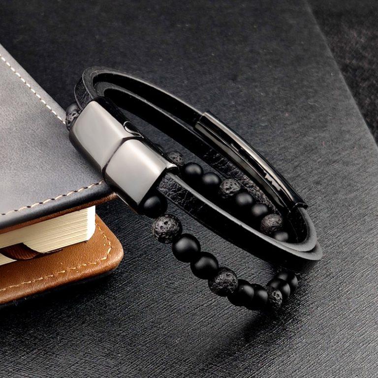 2020 Bohemian Charm Bracelet Bangle Leather Beaded Mens Chakra Tiger Eye Bracelet For Men Women Stainless 1 / Shop Social Online Store