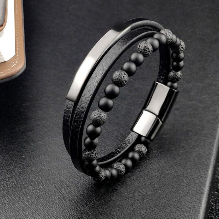 2020 Bohemian Charm Bracelet Bangle Leather Beaded Mens Chakra Tiger Eye Bracelet For Men Women Stainless 2 / Shop Social Online Store