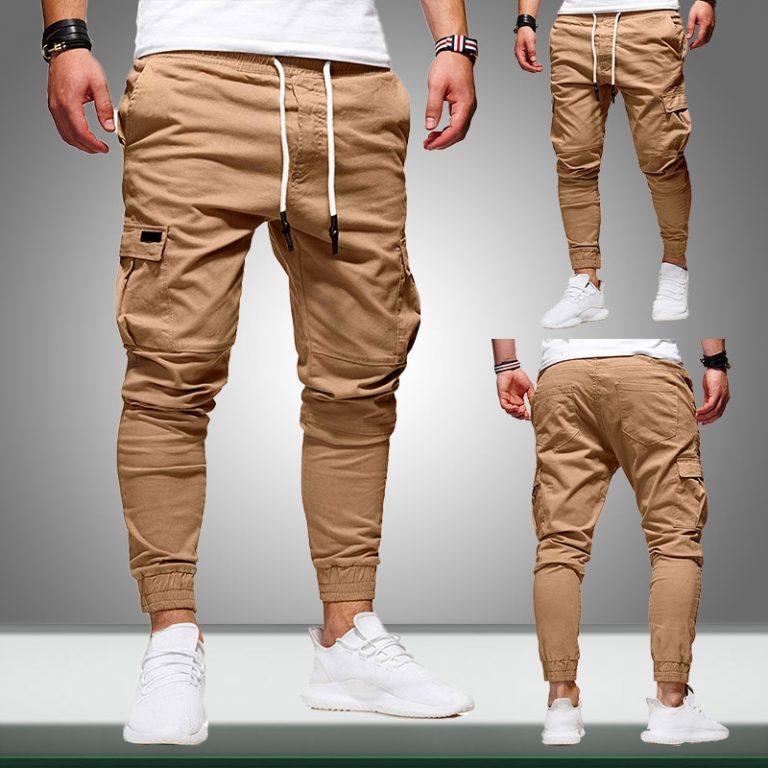2020 Men Pants Joggers Casual Male Cargo Military Sweatpants Solid Multi pocket Hip Hop Fitness Trousers 1 / Shop Social Online Store