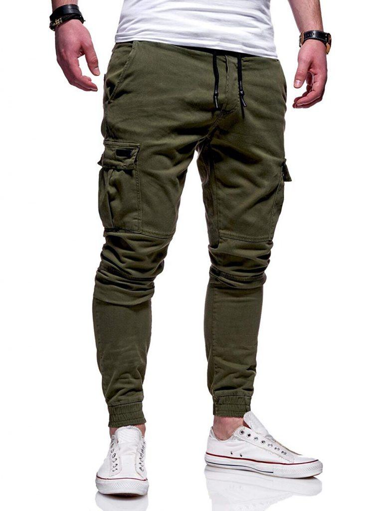 2020 Men Pants Joggers Casual Male Cargo Military Sweatpants Solid Multi pocket Hip Hop Fitness Trousers 2 / Shop Social Online Store
