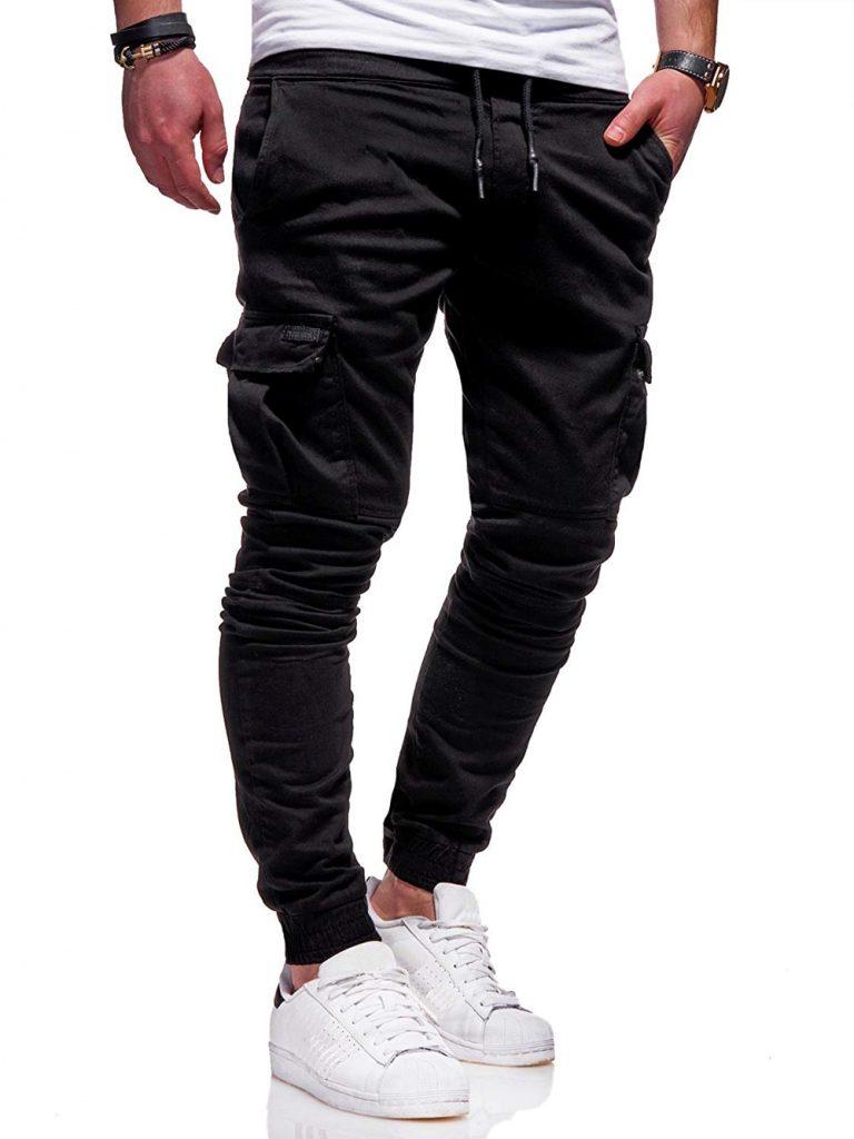2020 Men Pants Joggers Casual Male Cargo Military Sweatpants Solid Multi pocket Hip Hop Fitness Trousers 3 / Shop Social Online Store
