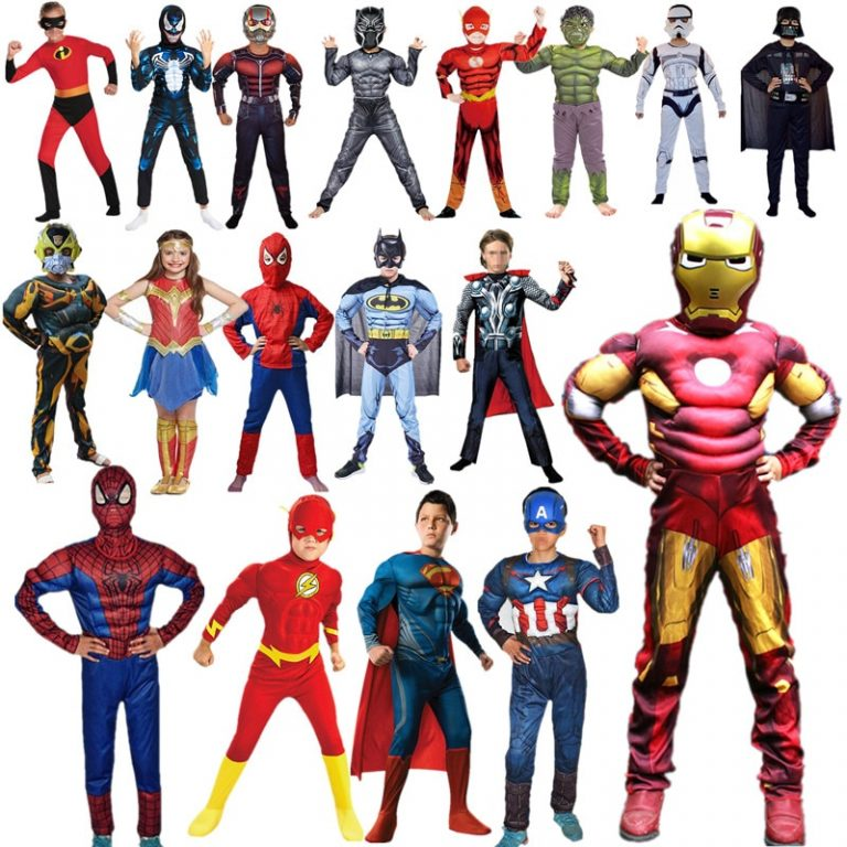 28 Colors Child Super Hero Cosplay Costume for Boys Carnival Halloween Costume 4 12Y / Shop Social Online Store