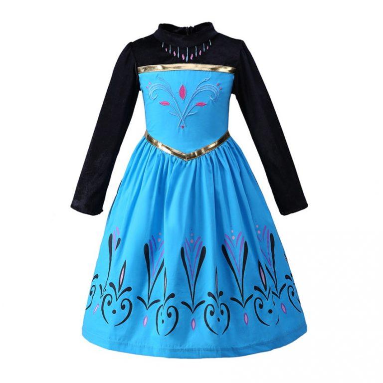 Anna Costumes Girls Halloween Costumes for Kids Dress Girl Cloak Anna Dresses Cosplay Anime Elsa Costumes 1 / Shop Social Online Store