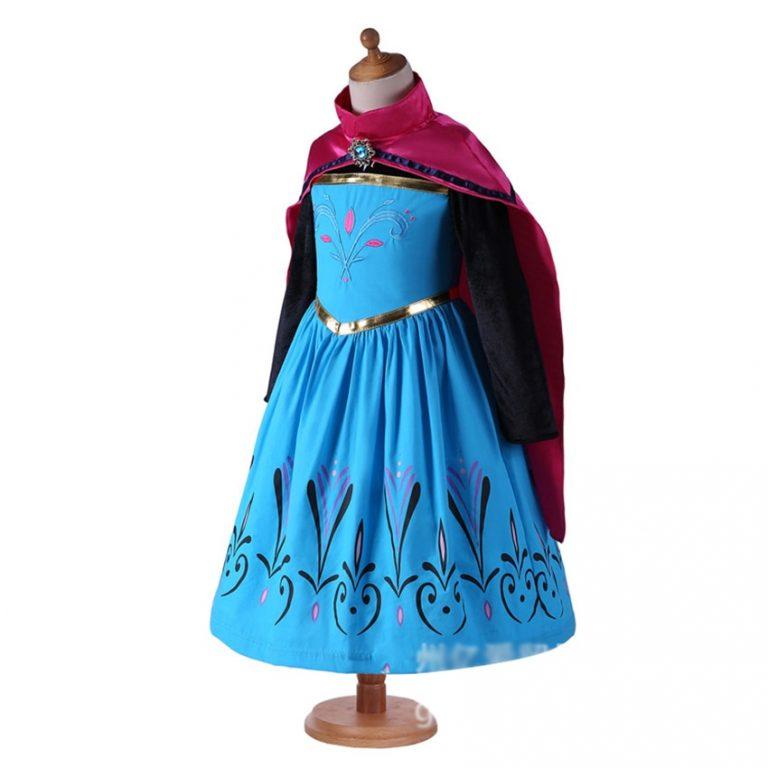 Anna Costumes Girls Halloween Costumes for Kids Dress Girl Cloak Anna Dresses Cosplay Anime Elsa Costumes 2 / Shop Social Online Store