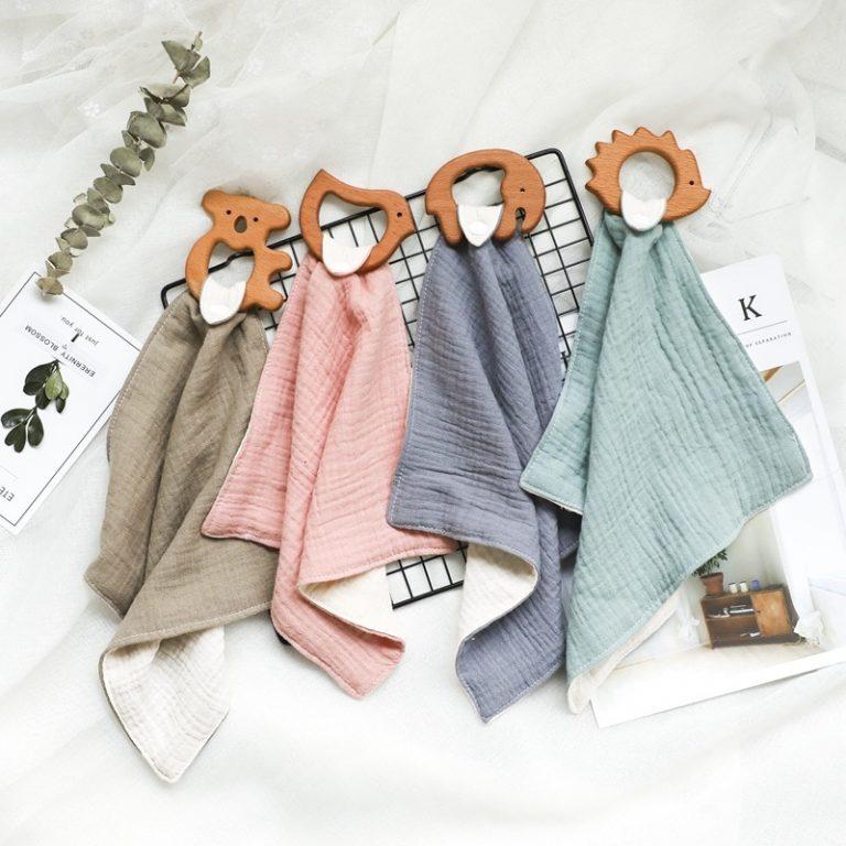 Baby Saliva Towel Baby Bibs Cotton Cartoon Shape Beech Wood Animals Teether Bandana Bib 2020 New 5 / Shop Social Online Store