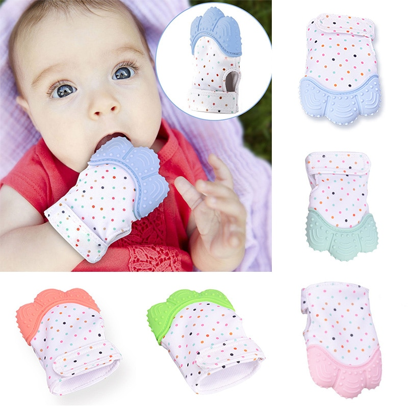 Silicone Baby Teether Mitts
