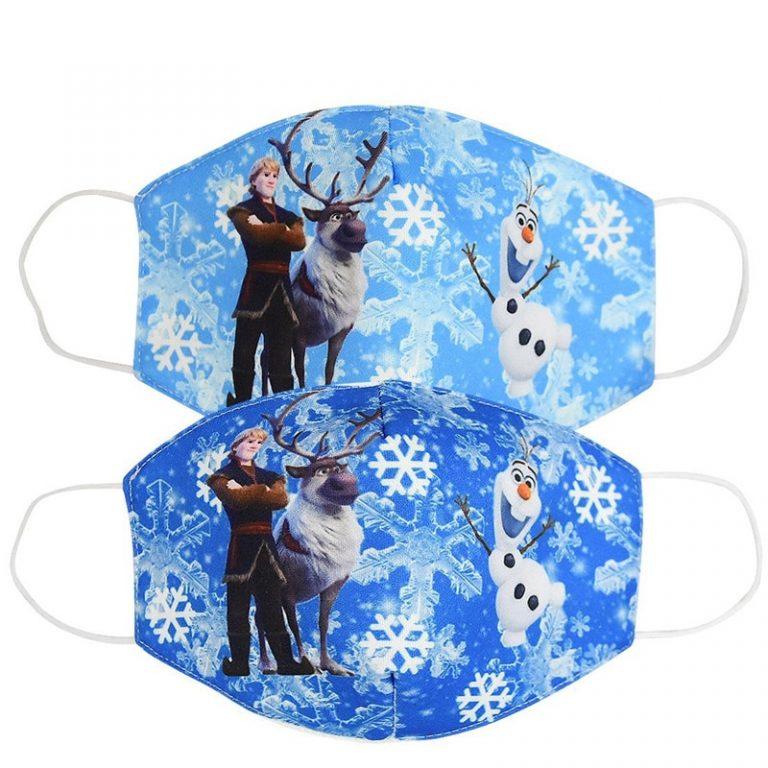 Disney Frozen Children s Face Maks Washable Frozen 2 Elsa Anna Olaf Cotton Anti Dust Protective 1 / Shop Social Online Store