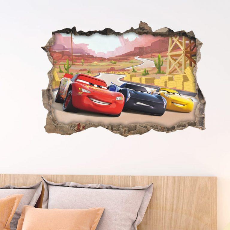 Disney Toy Stickers 3D Disney Cars Lightning Mcqueen Wall Stickers Window Home Decor Living Room Cartoon 3 / Shop Social Online Store
