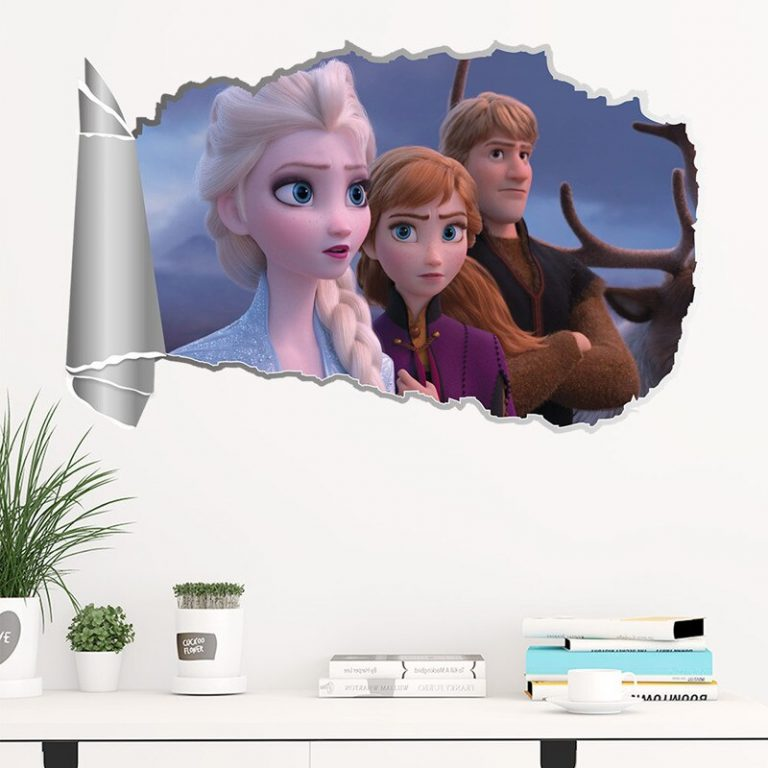 Disney Toy Stickers Elsa Anna Frozen Princess Wall Stickers For Girls Room Home Decoration Anime Mural 1 / Shop Social Online Store