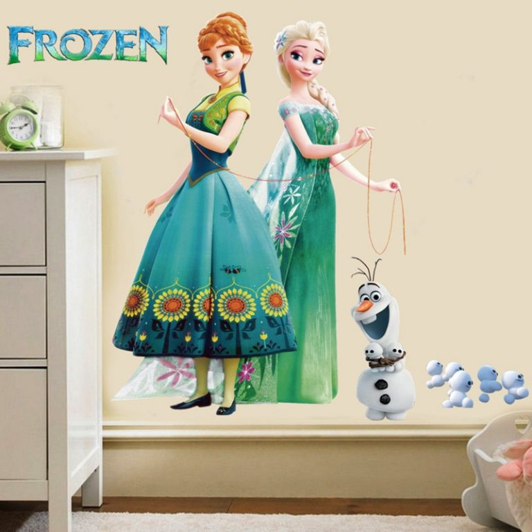 Disney Toy Stickers Elsa Anna Frozen Princess Wall Stickers For Girls Room Home Decoration Anime Mural 3 / Shop Social Online Store
