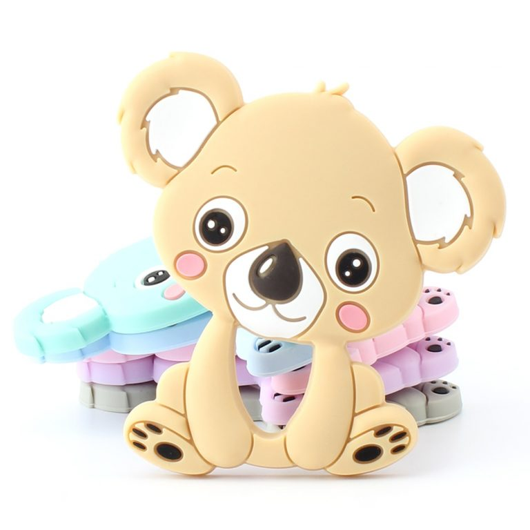 Keep Grow 1pcs Baby Animal Silicone Teethers Dog Dinosaur Koala Baby Teething Product Accessories For Pacifier 1 / Shop Social Online Store