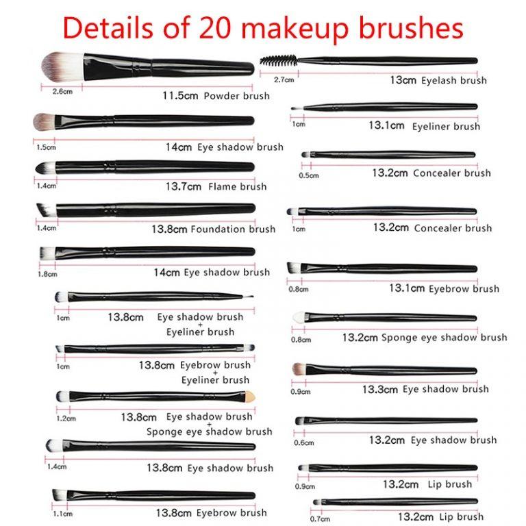 La Milee 20 5Pcs Makeup Brushes Set Eye Shadow Foundation Powder Eyeliner Eyelash Lip Make Up 1 / Shop Social Online Store