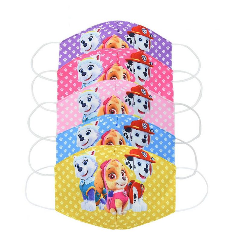 Paw Patrol Chase Skye Marshall Everest Children s Face Maks Paw Patrol Cotton Anti Dust Washable 2 / Shop Social Online Store