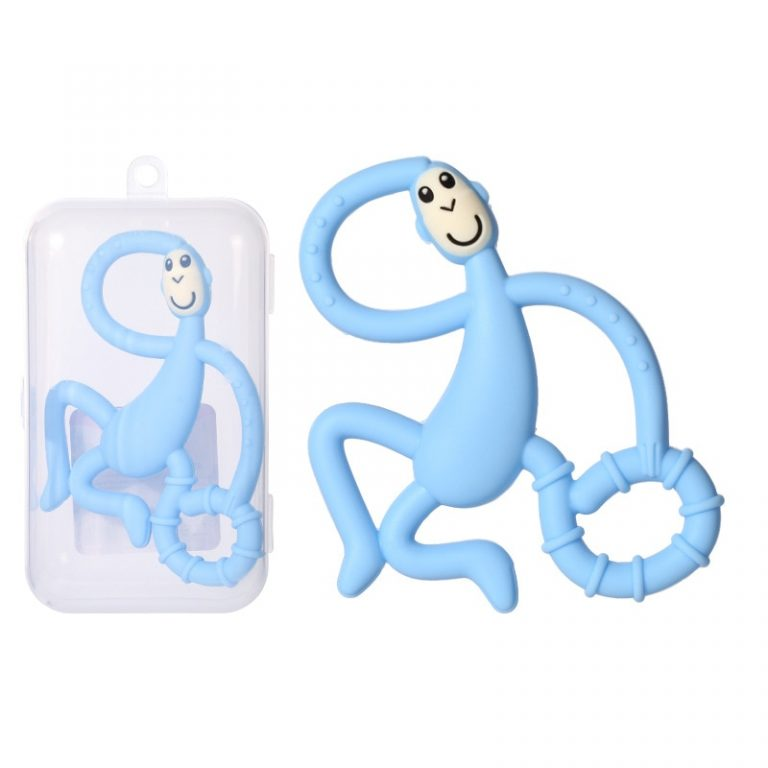 Safe Baby Teether Toys Toddle Monkey Teething Ring Silicone Chew Dental Care Toothbrush Nursing Beads Gift 4 / Shop Social Online Store
