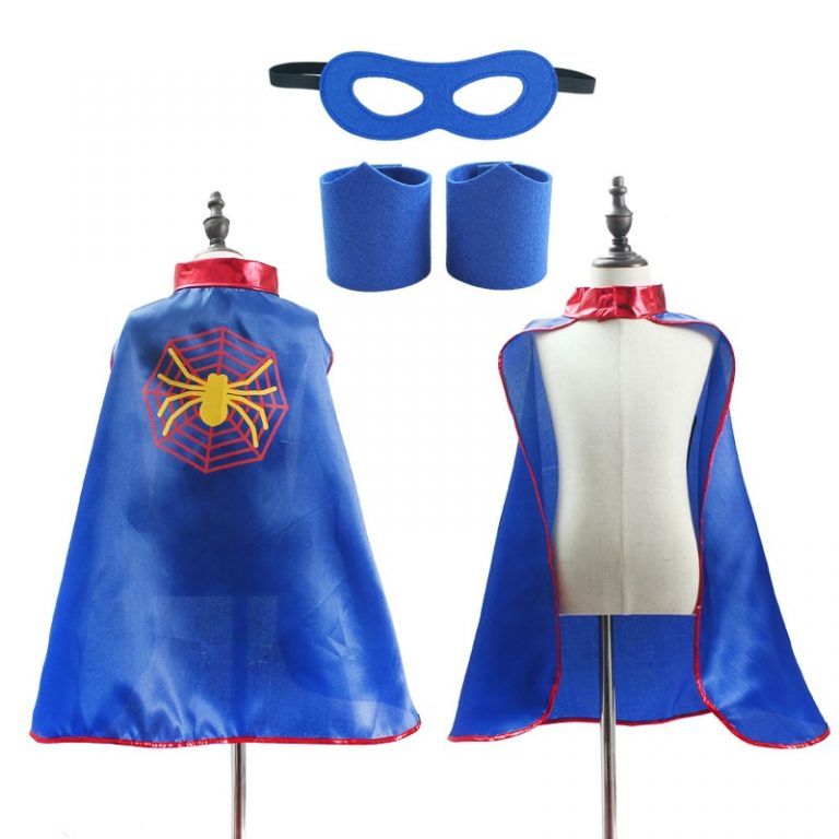 Superhero Capes Kids Birthday Party Halloween Costume Spider Costume 5 / Shop Social Online Store