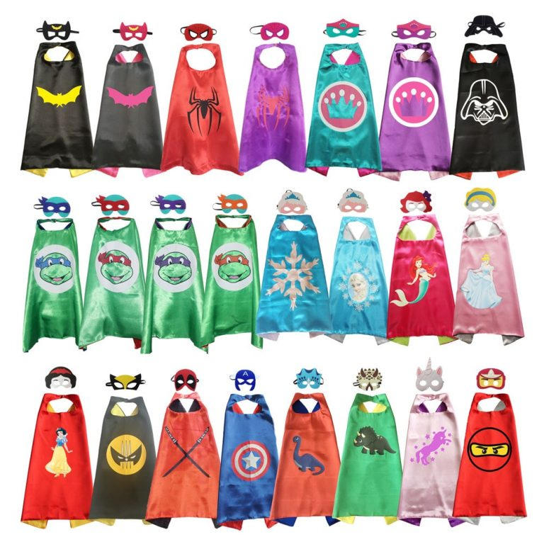 Superhero Capes with Mask Boys Girls Birthday Party Favor Dress Up Halloween Costumes Anime Cosplay / Shop Social Online Store