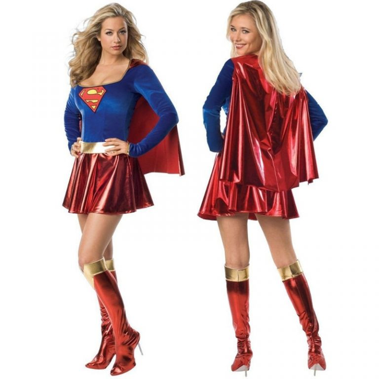 Superwoman Dress Superman Cosplay Costumes For Adult and Girls Halloween Super Girl Suit Superhero Wonder Woman 1 / Shop Social Online Store