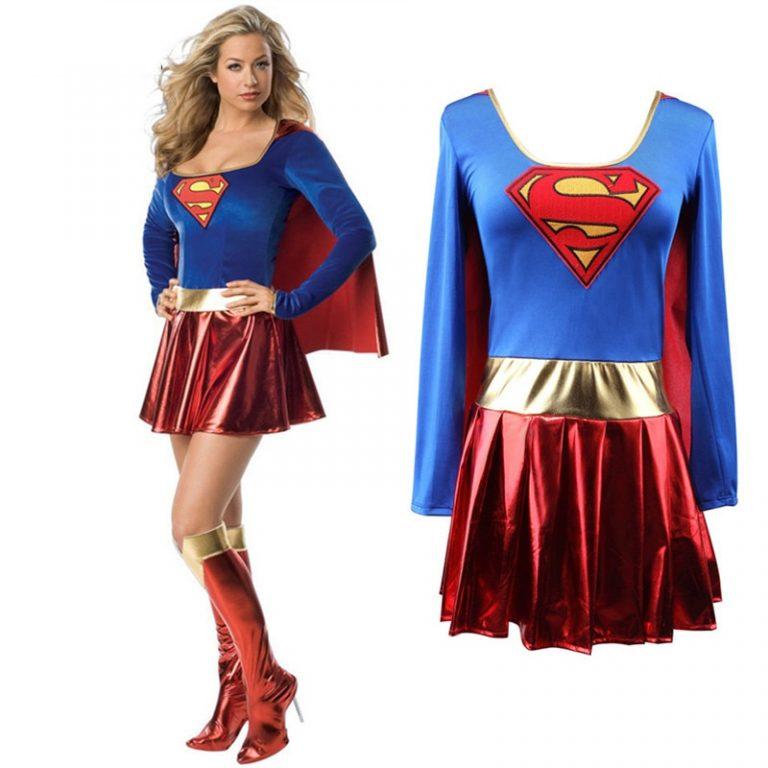 Superwoman Dress Superman Cosplay Costumes For Adult and Girls Halloween Super Girl Suit Superhero Wonder Woman 2 / Shop Social Online Store