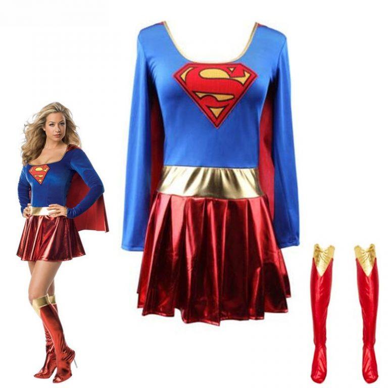Superwoman Dress Superman Cosplay Costumes For Adult and Girls Halloween Super Girl Suit Superhero Wonder Woman 3 / Shop Social Online Store