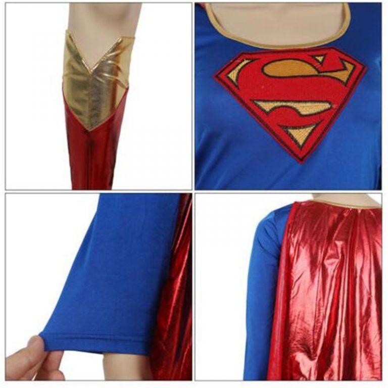 Superwoman Dress Superman Cosplay Costumes For Adult and Girls Halloween Super Girl Suit Superhero Wonder Woman 4 / Shop Social Online Store