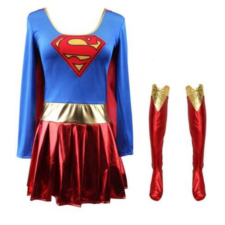 Superwoman Dress Superman Cosplay Costumes For Adult and Girls Halloween Super Girl Suit Superhero Wonder Woman / Shop Social Online Store