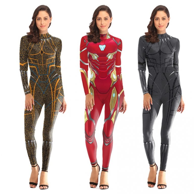 women Spiderman Costume Captain Marvel Costumes Halloween Costume for Adult Carol Danvers Captain America Suit 3 / Shop Social Online Store