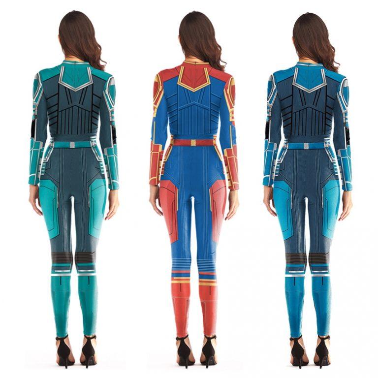 women Spiderman Costume Captain Marvel Costumes Halloween Costume for Adult Carol Danvers Captain America Suit 4 / Shop Social Online Store