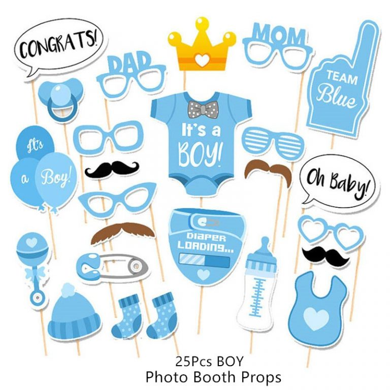 Baby Shower Banner Its A Boy Girl Confetti Balloon Baby Gender Reveal Birthday Party Decorations Kids 3 / Shop Social Online Store