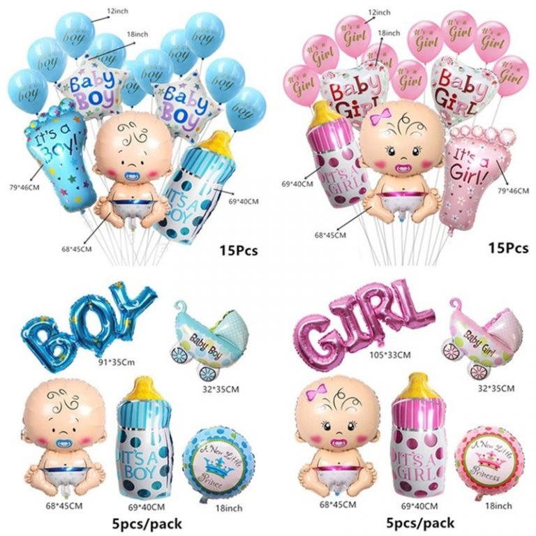 Baby Shower Banner Its A Boy Girl Confetti Balloon Baby Gender Reveal Birthday Party Decorations Kids 4 / Shop Social Online Store