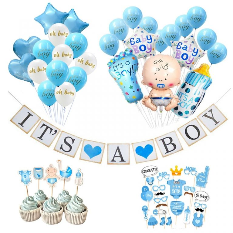 Baby Shower Banner Its A Boy Girl Confetti Balloon Baby Gender Reveal Birthday Party Decorations Kids / Shop Social Online Store