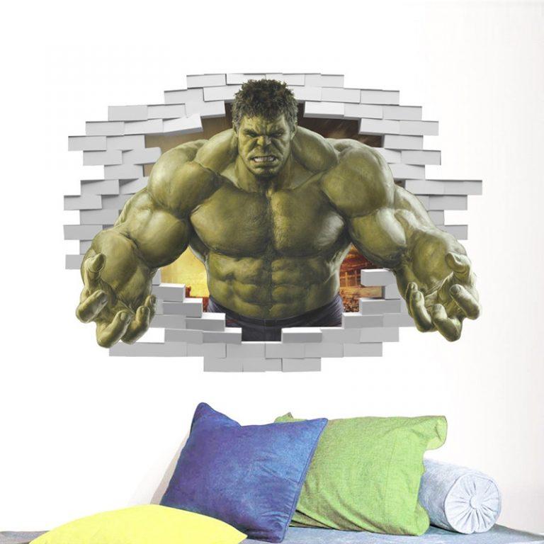Disney Marvel Toy Sticker 3D PVC Avengers Captain America Iron Man Hulk Thor Spiderman Wall Sticker 2 / Shop Social Online Store