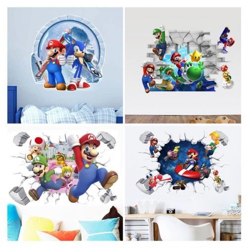 Mario Bros 3D Wall Sticker