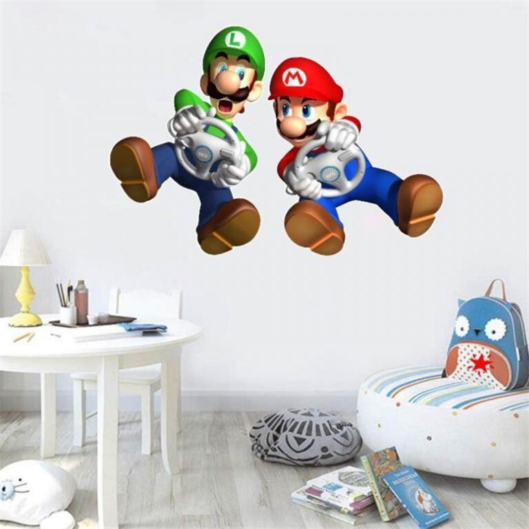 3D Cartoon Mario Bros Wall Sticker For Kids Rooms Decals Nursery Home Decor Vinyl Mural for 9 / Shop Social Online Store