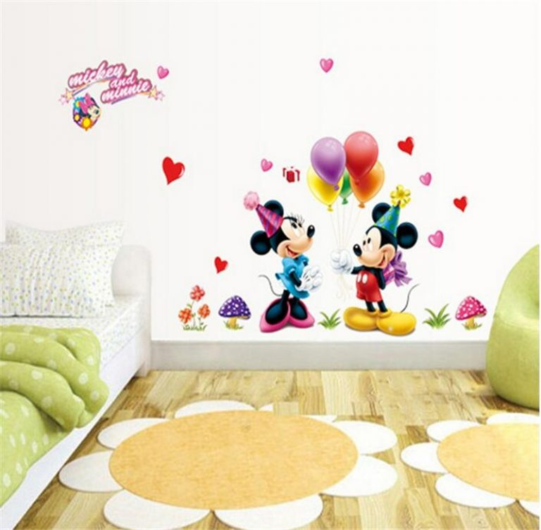 3D Cartoon Mickey Minnie Wall Stickers For Kids Room Bedroom Wall Decoration Princess Room Sticker 2 / Shop Social Online Store