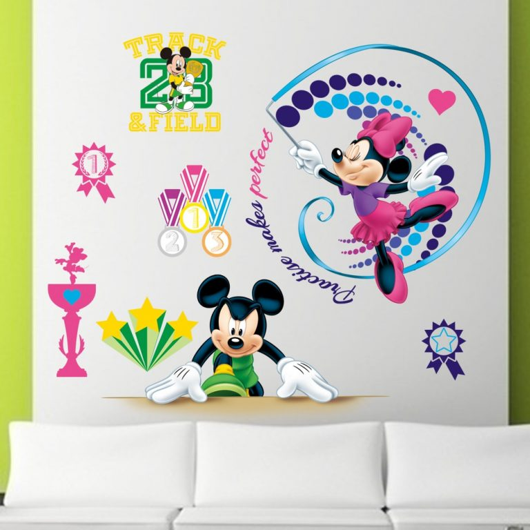 3D Cartoon Mickey Minnie Wall Stickers For Kids Room Bedroom Wall Decoration Princess Room Sticker 3 / Shop Social Online Store