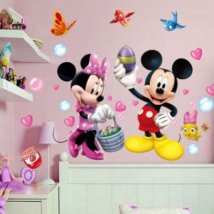 3D Cartoon Mickey Minnie Wall Stickers For Kids Room Bedroom Wall Decoration Princess Room Sticker / Shop Social Online Store
