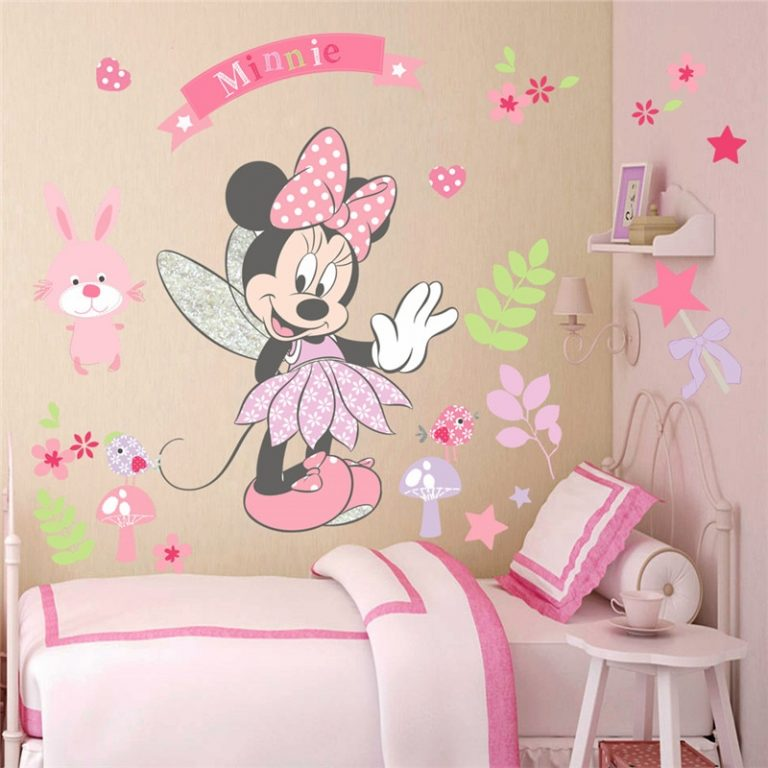 3D Cartoon Mickey Minnie Wall Stickers For Kids Room Bedroom Wall Decoration Princess Room Sticker 4 / Shop Social Online Store